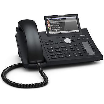 Wokex D375 IP Telefon, SIP Tischtelefon (hochauflösendes Farbdisplay 4,3 Zoll, 12 SIP-Identitäten,