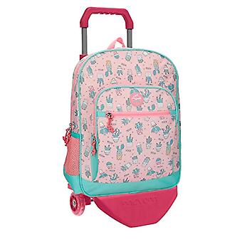 MOVOM Cactus Backpack with Pink Trolley 31x42x13 cms Polyester 16.93L