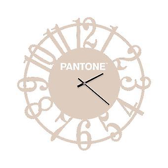 PANTONE Lins Klocka Färg Sand, Vit, Metall L40xP0.15xA40 cm
