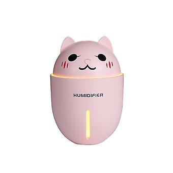 3 In 1 320ML USB Air Humidifier Adorable Pet Mini Humidifier With LED Light Mini USB Fan|Humidifiers
