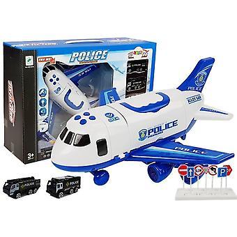 Spielzeugpolizei-Transportflugzeug mit Fracht – 1:64