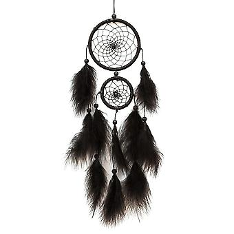 Handmade Black Dream Catcher With Feathers