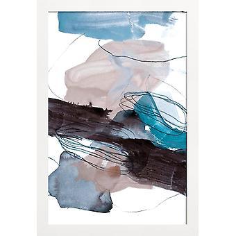 JUNIQE Print -  Abstract Painting VIII - Abstrakt & Geometrisch Poster in Blau & Grau