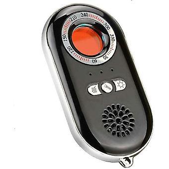 مكافحة التجسس الأشعة تحت الحمراء كاميرا كاشف المحمولة إنذار شخصي 3 في 1 وظائف تنبيه طوارئ الدفاع مع مصباح يدوي مصغرة (أسود)