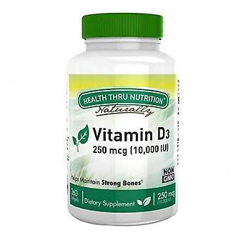 Health Thru Nutrition Vitamin D3, 10000 IU, 360 Softgel