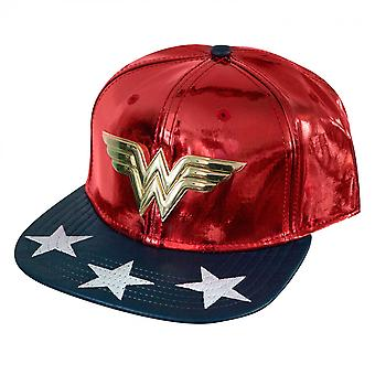 Wonder Woman Character Armor Metal Symbol Adjustable Snapback Hat