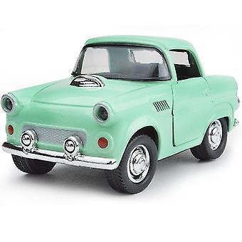 Cartoon Mini Classic Car Beetle Alloy Green Pull Back Model Children's Toy Car