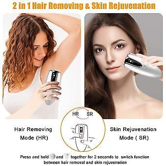 Pulsed light epilator, 2 in 1 IPL hair removal, 3 modes, 10-level pulse epilator, semi-qualitative hair removal, suitable for facial body bikini armpits(Black)