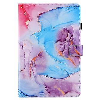 Case For Samsung Galaxy Tab A7 10.4 2020 Cover Auto Sleep/wake Rotating Multi-angle Viewing Folio Stand - Blue Purple