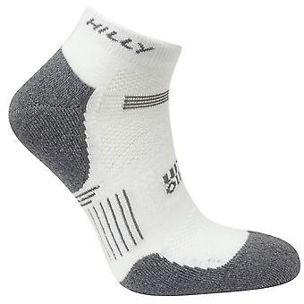 Hilly Supreme Quarter Socks - White/Grey Marl