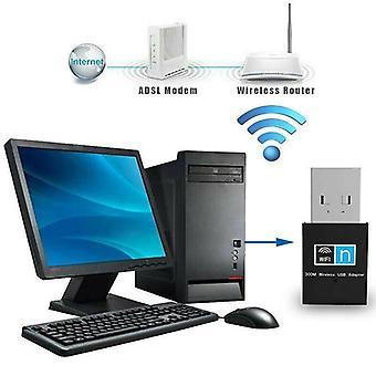 300Mbps USB WiFi adapter Dongle vezeték nélküli vevő hordozható hálózat asztali