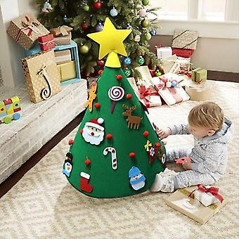 Diy Felt Joulukuusi Joulu Sisustus Kotiin Navidad uudenvuoden crismas