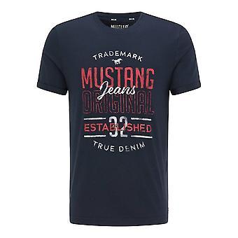 Mustang Skor Alex C Print 10106804136 universell hela året män t-shirt