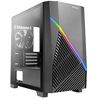 Antec Draco 10 Mini Tower 2 x USB 3.0 Caixa preta do painel de vidro temperado com iluminação LED RGB endereçada