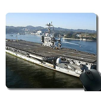 Mouse pads 260x210x3 mouse pad with stitched edge military uss george washington cvn 73 warship non-slip