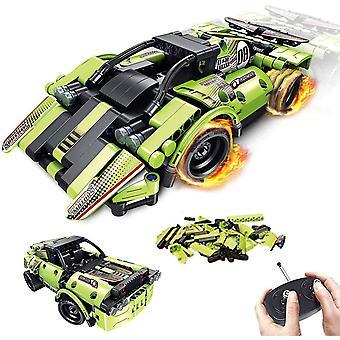 2-in-1 Kaukosäädin Racer & Off-road Vehicle,335kpl Kantarakennuslelut