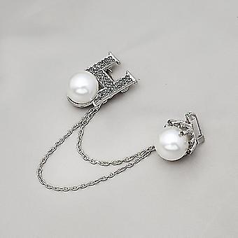 Mode Simple Crystal Flash Diamant Grande broche en alliage de perle Badge Accessoires vestimentaires Cadeaux