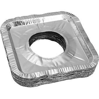 Brûleur de poêle Couvre 50 pièces De papier d'aluminium Brûleur de poêle à gaz carré