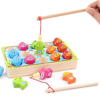 Caraele Children's Magnetic Wooden Fishing Game Educational Toy