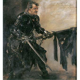 Lovis Corinth - Knight in Black Poster Print Giclee