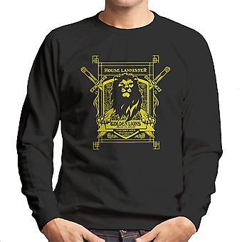 Game Of Thrones House Lannister Golden Lions Hear Us Roar Men's Sweatshirt