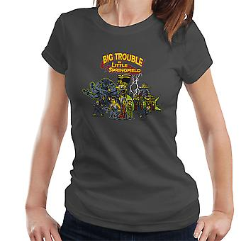 Big Trouble In Little Springfield Simpsons China Women's T-Shirt