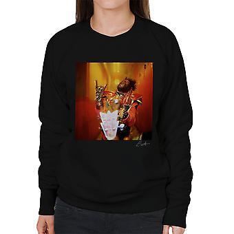 George Clinton und Parlament-Funkadelic Teufel Hörner Damen Sweatshirt