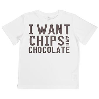 Spoilt Rotten I Want Chips & Chocolate Kid's T-Shirt