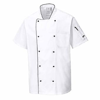 Portwest - Aerated Chefs Kitchen Workwear Short Sleeved Jacket