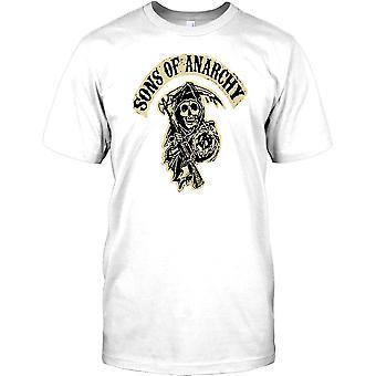 Sons Of Anarchy Sensenmann Grunge - Biker-Herren-T-Shirt