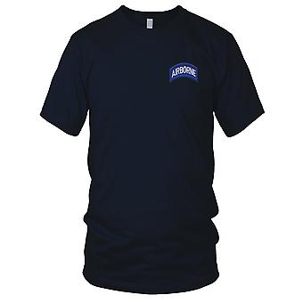US Army - armée aéroportée Rocker champ bleu Patch brodé - Mens T Shirt