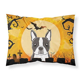 Halloween Boston Terrier Fabric Standard Pillowcase
