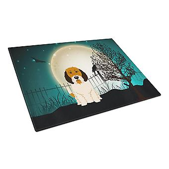 Halloween enge Petit Basset Griffon Veenden glazen snijplank groot