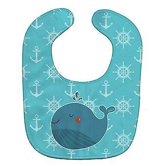 كارولين الكنوز BB6734BIB الحوت الأزرق مريلة بيبي