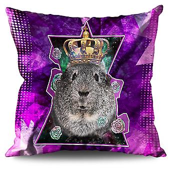 Hamster King Beast Linen Cushion 30cm x 30cm | Wellcoda