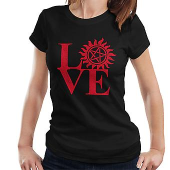 Amour T-Shirt de Supernatural pentagramme femmes