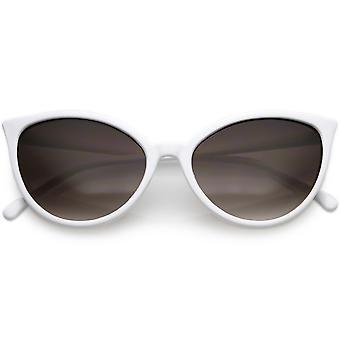 ユニークな猫の目のサングラスのスリムなフレームのラウンド中立的な色のグラデーション レンズ 54 mm