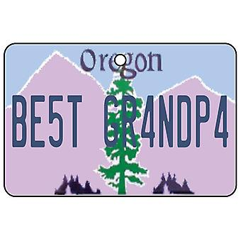 Oregon - Best Grandpa License Plate Car Air Freshener
