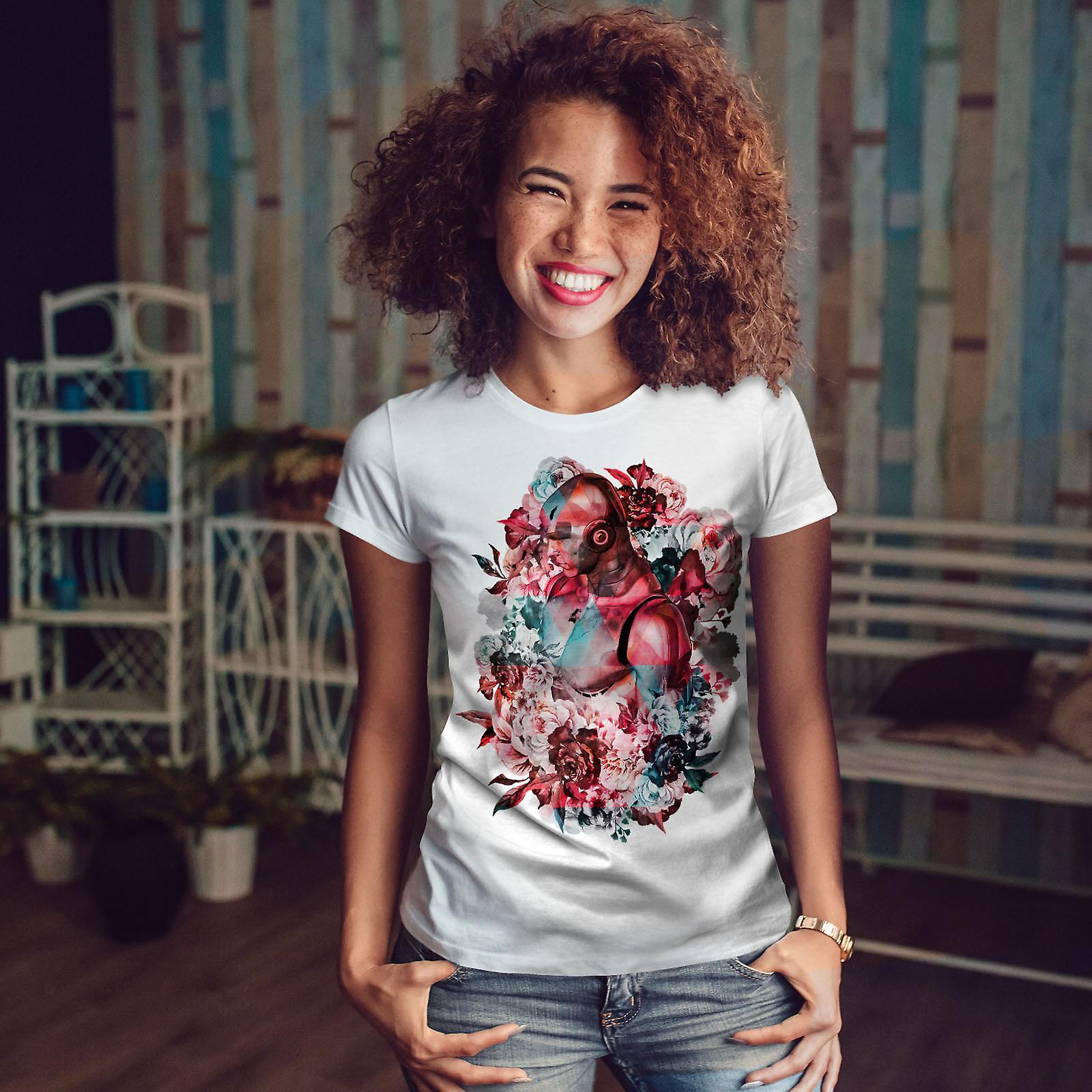 Résumé de femmes WhiteT-chemise à fleurs | Wellcoda