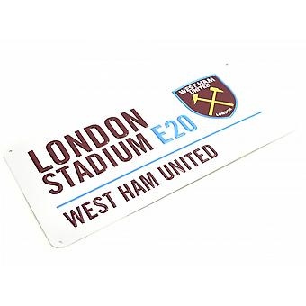 West Ham United FC Metal Street Sign