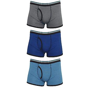 Tom Franks Mens Striped Trunks Underwear (3 Pack)