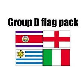 RYHMÄN D Jalkapallo World Cup 2014 lippu Pack (5 jalkaa x 3 ft)