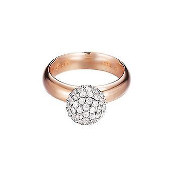 ESPRIT kvinders ring sølv Rosé guld cubic zirconia Glam sfære steg ESRG92309B1