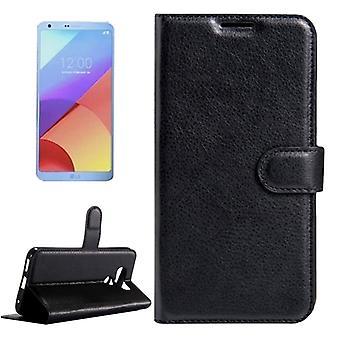 Preto de prémio de carteira de bolso para LG G6 H870 proteção luva capa case bolsa nova