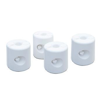 Outsunny 4pc Canopy Weight Clip Gazebo Feet Fill with Water or Sand White