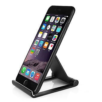 قسط إينفينتكاسي الألومنيوم الهاتف المحمول الهاتف الذكي للطي عرض حامل قابل لضبط سطح المكتب--الأسود