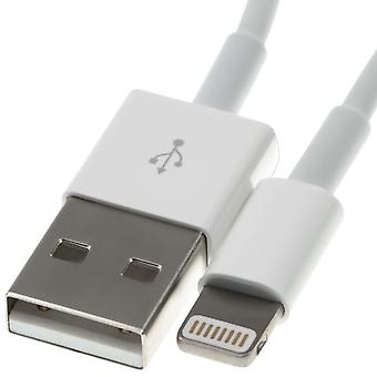 Lightning is compatible to usb cable-1 meter-white