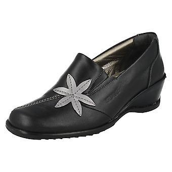 Ladies Suave Smart Slip On Wedge Shoes Sheila