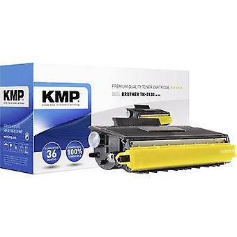 KMP toner patron erstattet Brother TN-3130, TN3130 kompatibel sort 3500 sider B-T87