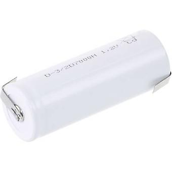 Mexcel D-3/2D7000H Non-standard battery (rechargeable) 3/2 D High temperature resistant, Flat top NiCd 1.2 V 7000 mAh